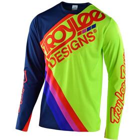 Troy Lee Designs Sprint Ultra Jersey Heren, tilt navy/flo yellow